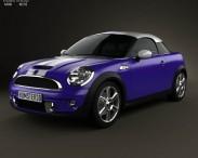3D model of Mini Cooper S coupe 2013