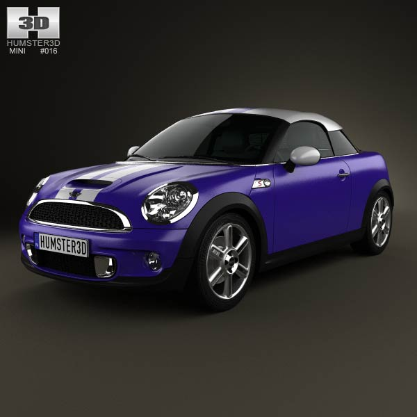 Mini Cooper S coupe 2013 3d car model