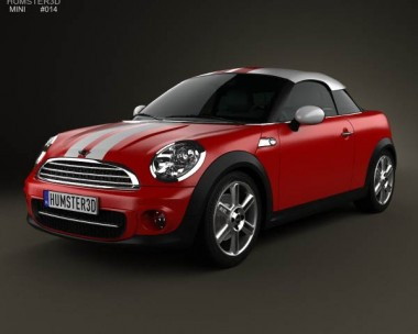 3D model of Mini Cooper coupe 2013
