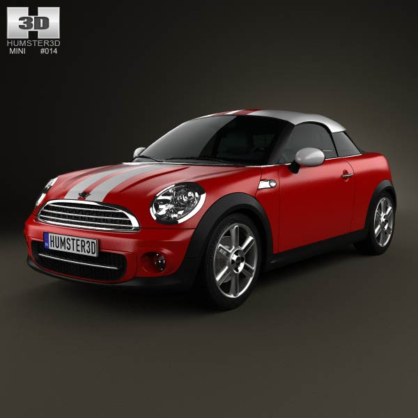 Mini Cooper coupe 2013 3d car model