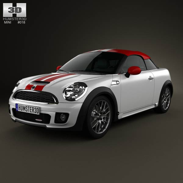 Mini John Cooper Works coupe 2013 3d car model