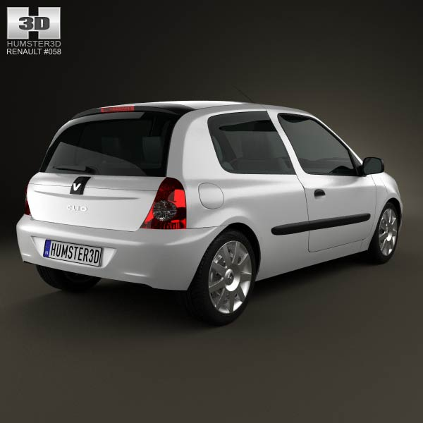 Renault Clio Mk2 3-door 2005 3d model