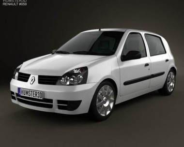 3D model of Renault Clio Mk2 5-door 2005