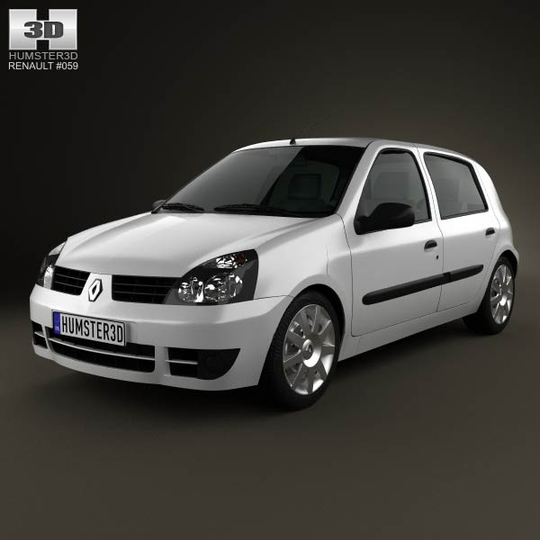 Renault Clio Mk2 5-door 2005 3d car model