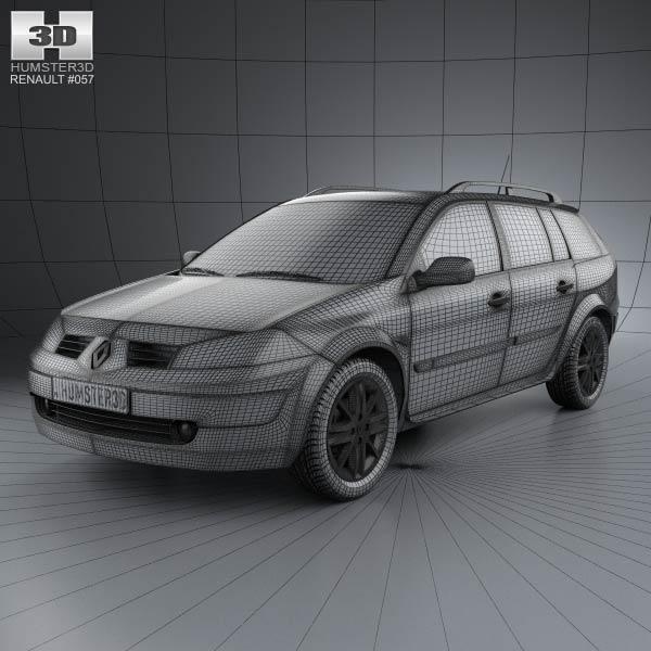 Renault Megane Grandtour 2003 3d car model