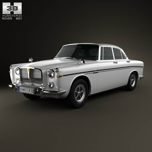 Rover P5B coupe 1973 3d car model