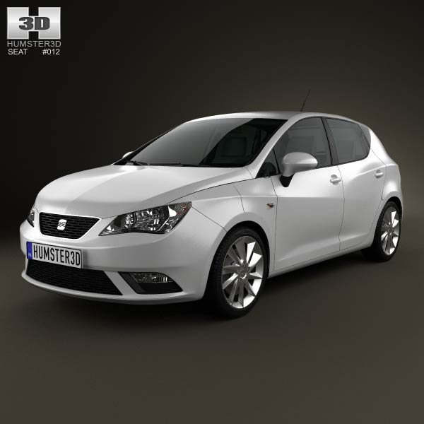 Seat Ibiza 5-door hatchback 2013 3d car model