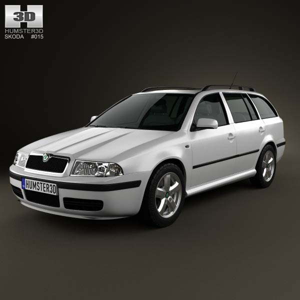 Skoda Octavia Tour Combi 2000 3d car model