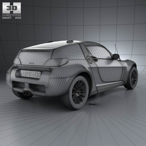 smart roadster coupe 2005 3d model humster3d. Black Bedroom Furniture Sets. Home Design Ideas