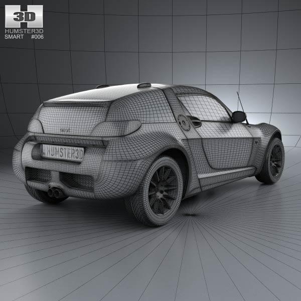 smart roadster coupe 2005 3d model humster3d. Black Bedroom Furniture Sets. Home Design Ideas