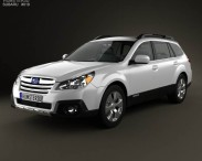 3D model of Subaru Outback limited US 2013