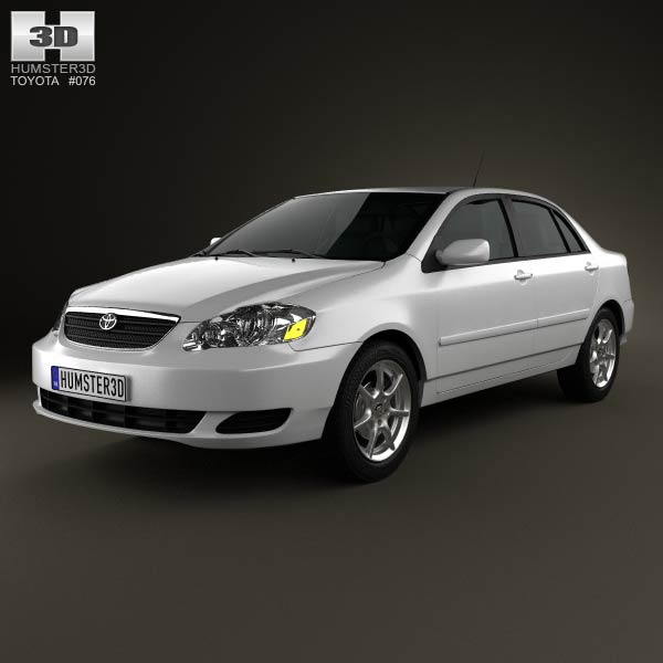 Toyota Corolla (E120) 2005 3d car model