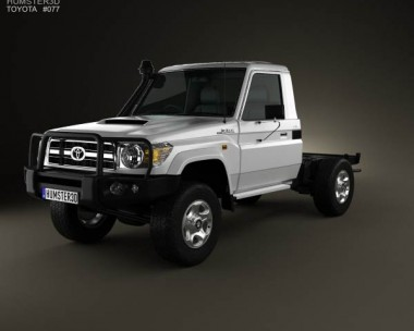 3D model of Toyota Land Cruiser (J70) Cab Chassis GXL 2008