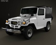3D model of Toyota Land Cruiser (J40) Canvas Top 1979