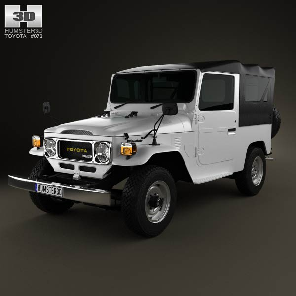 Toyota Land Cruiser (J40) Canvas Top 1979 3d car model