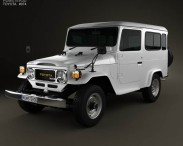 3D model of Toyota Land Cruiser (J40) Hard Top 1979
