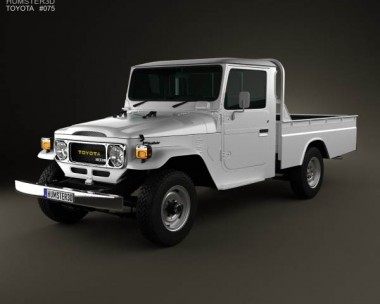 3D model of Toyota Land Cruiser (J40) Pickup 1979