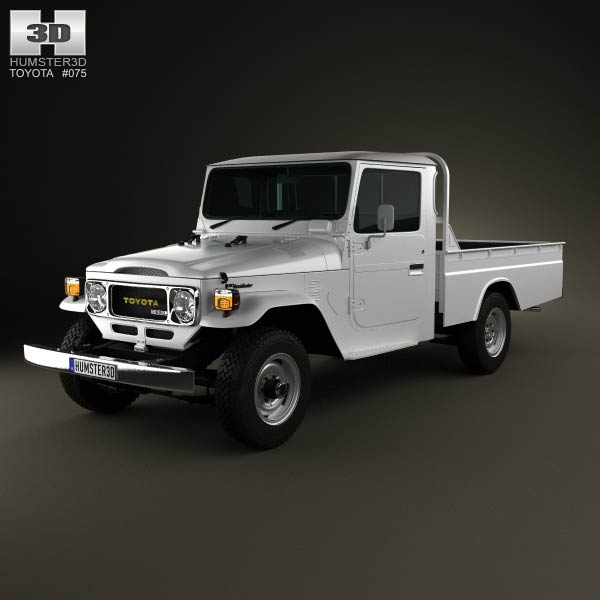 Toyota Land Cruiser (J40) Pickup 1979 3d car model