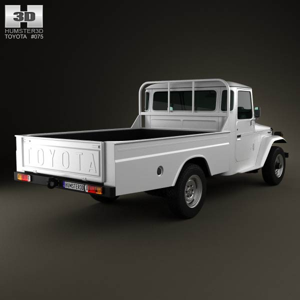 Toyota Land Cruiser (J40) Pickup 1979 3d model
