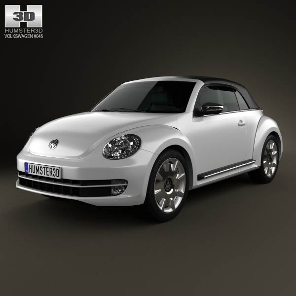 Volkswagen Beatle convertible 2013 3d car model