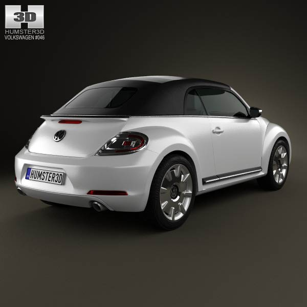 Volkswagen Beetle convertible 2013 3d model