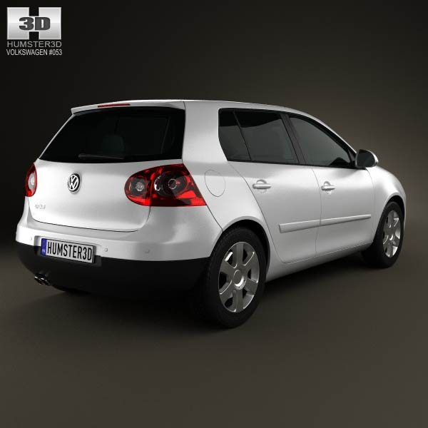Volkswagen Golf Mk5 5-door 2004 3d model
