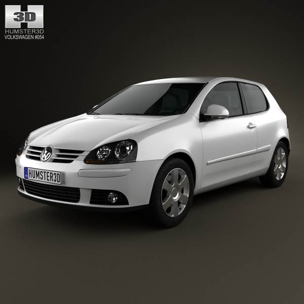 Volkswagen Golf Mk5 3-door 2004 3d car model