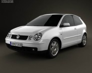 3D model of Volkswagen Polo Mk4 3-door 2001