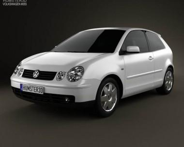 3D model of Volkswagen Polo Mk4 3-door 2001