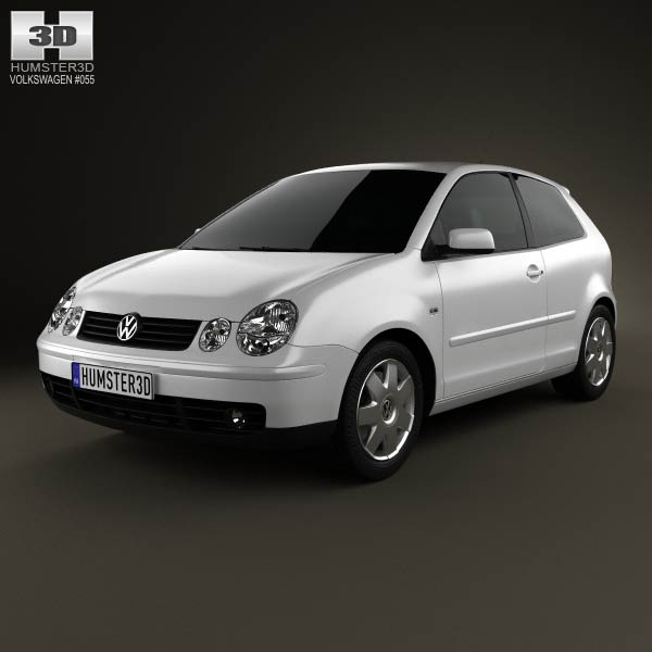 Volkswagen Polo Mk4 3-door 2001 3d car model