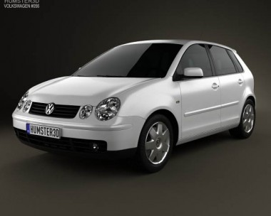 3D model of Volkswagen Polo Mk4 5-door 2001