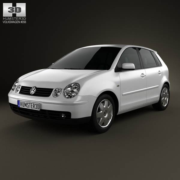 Volkswagen Polo Mk4 5-door 2001 3d car model