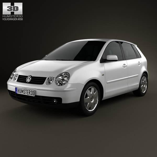 Volkswagen Polo Mk4 5-door 2001 3d car model