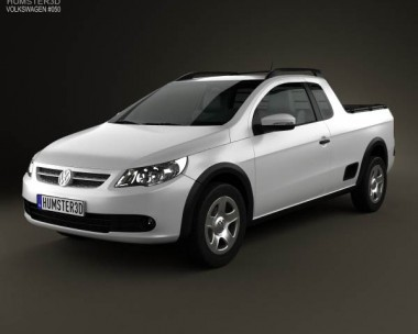 3D model of Volkswagen Saveiro 2012
