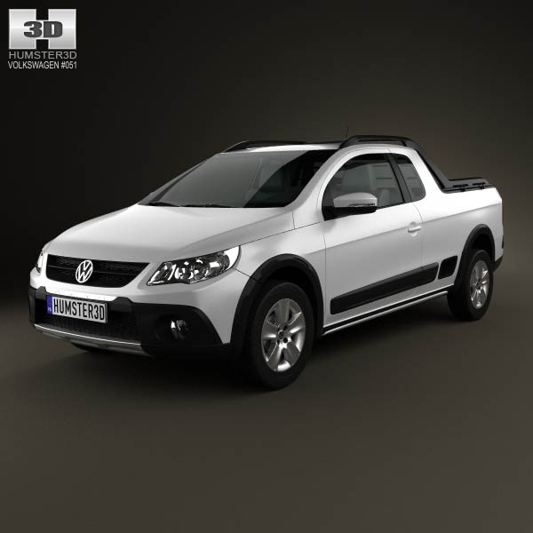 Volkswagen Saveiro Cross 2012 3d car model
