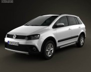 3D model of Volkswagen SpaceFox Cross (Suran) 2012