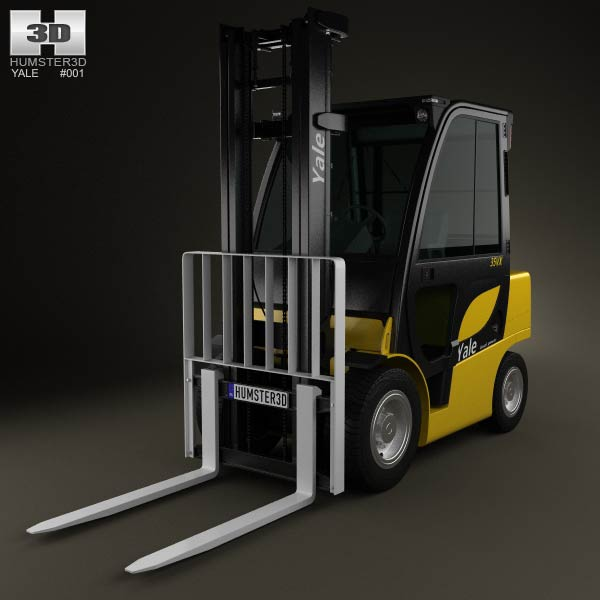 Yale GDP 35VX Forklift 2012 3d car model