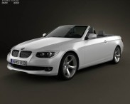 3D model of BMW 3 Series convertible with HQ interior 2011