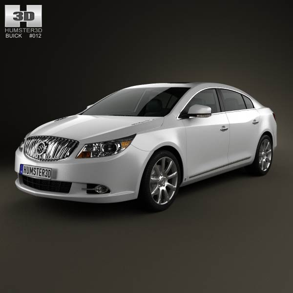 Buick LaCrosse (Alpheon) with HQ interior 2012 3d car model