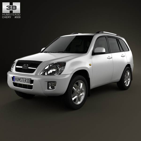 Chery Tiggo (J11) with HQ interior 2013 3d car model