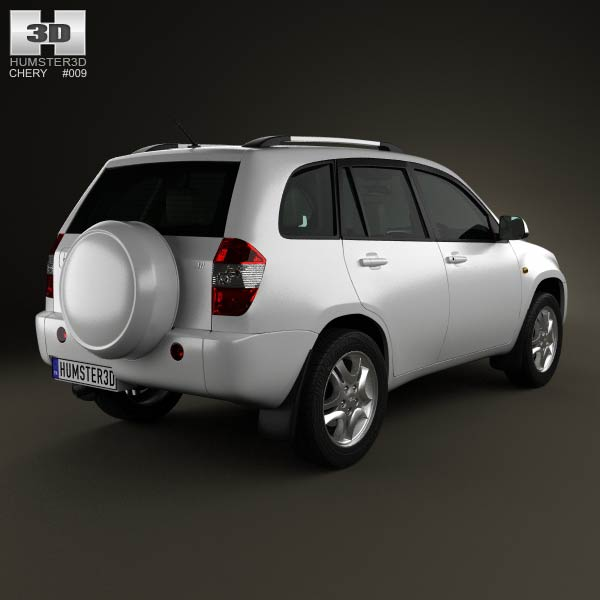 Chery Tiggo (J11) with HQ interior 2013 3d model