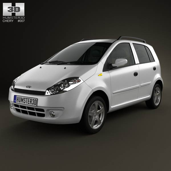 Chery A1 (J1) with HQ interior 2012 3d car model
