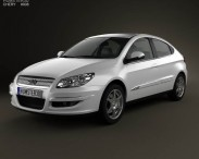 3D model of Chery A3 (J3) Hatchback 5-door with HQ interior 2008