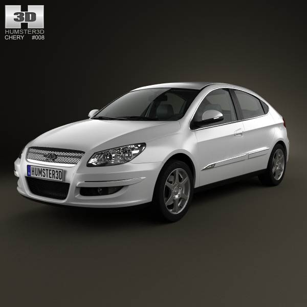 Chery A3 (J3) Hatchback 5-door with HQ interior 2008 3d car model