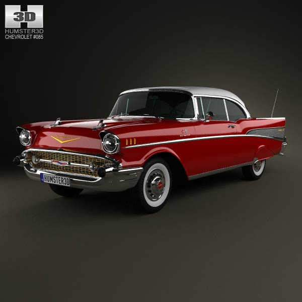 Chevrolet Bel Air Sport Coupe 1957 3d car model