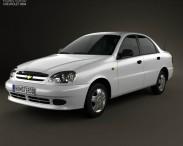 3D model of Chevrolet Lanos 2012