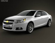 3D model of Chevrolet Malibu with HQ interior 2013