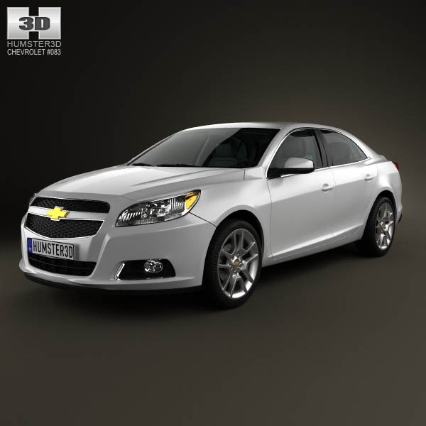 Chevrolet Malibu with HQ interior 2013 3d car model