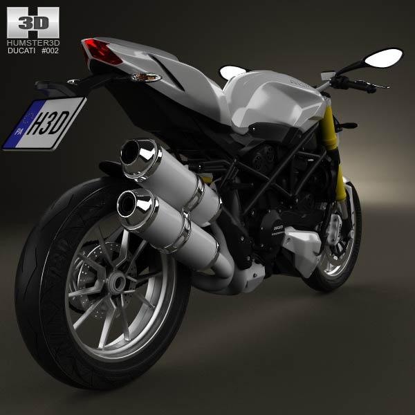 Ducati Streetfighter 848 2012 3d model
