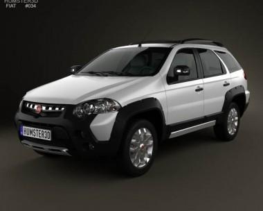 3D model of Fiat Palio Adventure 2012